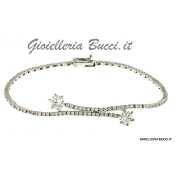 WOMEN'S TENNIS BRACELET IN 18 KT WHITE GOLD with ZIRCON