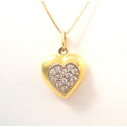 LADIES ' NECKLACE IN 18 KT YELLOW GOLD with CHAMPAGNE